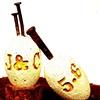 Chad & Jennifer's Wedding Eggs~