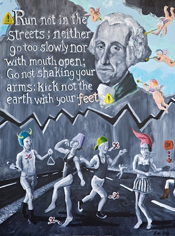 George Washington, rules, Rule #53, dancing, cherub, surreal