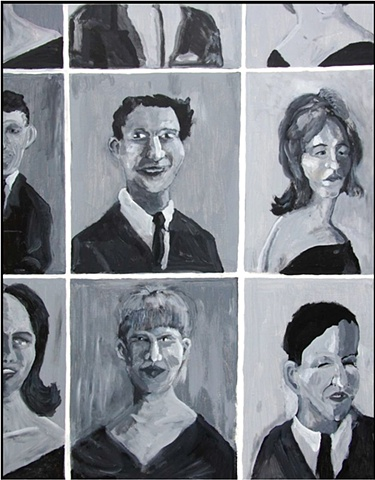 Jim Jolly, art, Little Rock, Arkansas, black & white, acrylic on canvas, yearbook