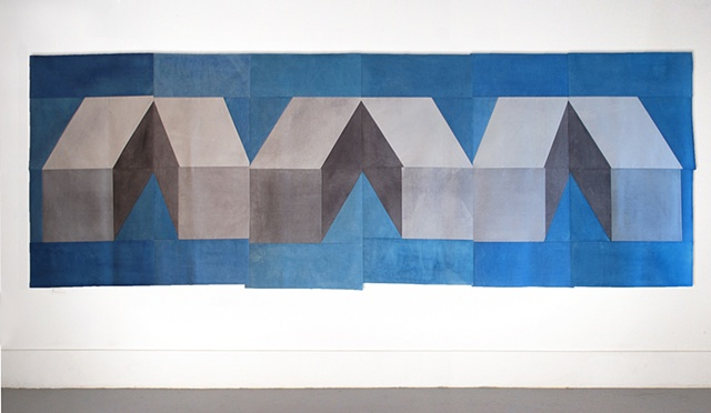 geometric design on fabric artwork by Gabrielle Teschner, Gabrielle Teschner