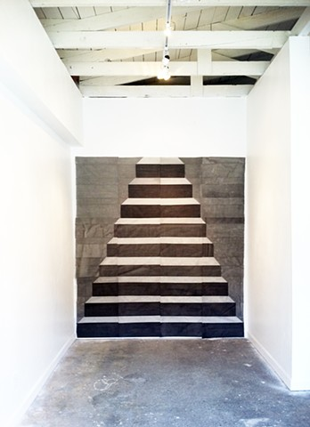 staircase, wall hanging, Gabrielle Teschner, FM Gallery