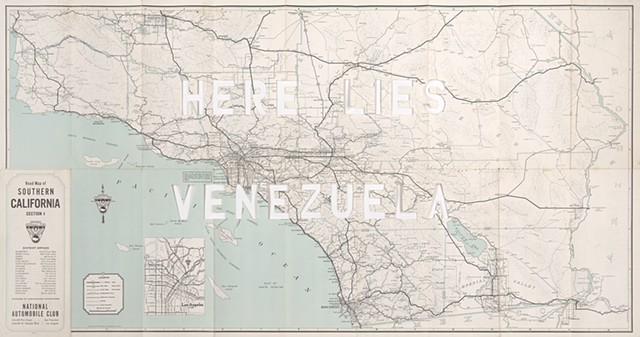 venezuela art, map art, cut map