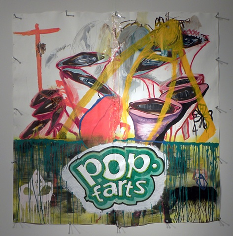 Pop Farts 2D (Installation View 1)