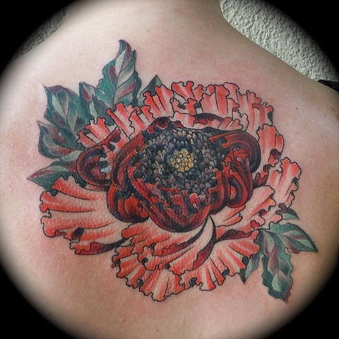 Red Peony Cover-up