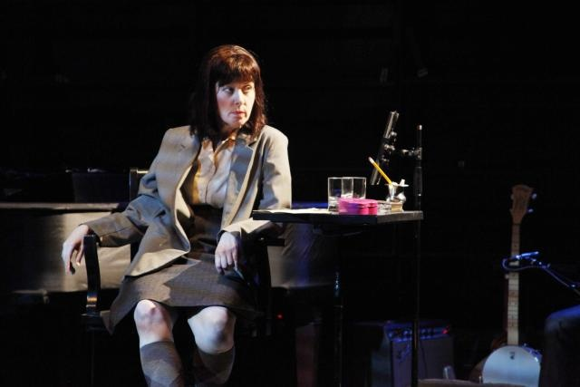 Carson McCullers Talks About Love. Written and Performed by Suzanne Vega. Directed by Kay Matschullat. The Rattlestick Theatre. Photo by Sandra Coudert 2011