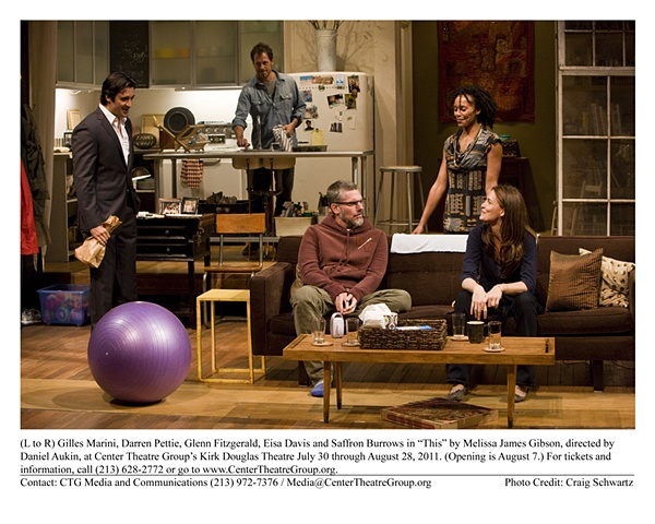 """"""" This"""" by Melissa James Gibson, directed by Daniel Aukin. Center Theatre Group's Kirk Douglas Theatre. 2011"""