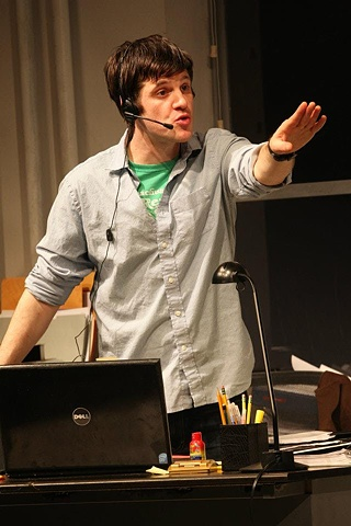 Featuring Michael Esper. Playwrights Horizons, ASSISTANCE 2012 Photo by Joan Marcus