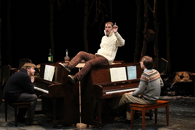 Three Pianos. Written and Performed by Rick Burkhardt, Alec Duffy, Dave Malloy. Directed by Rachel Chavkin. NYTW 2010