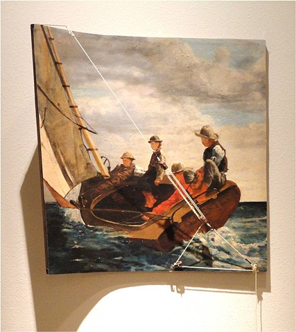 Winslow Homer, Breezing Up, James Volkert, curved painting