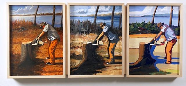 Work-1865, 1915,1965: After Homer, Bellows, Hopper