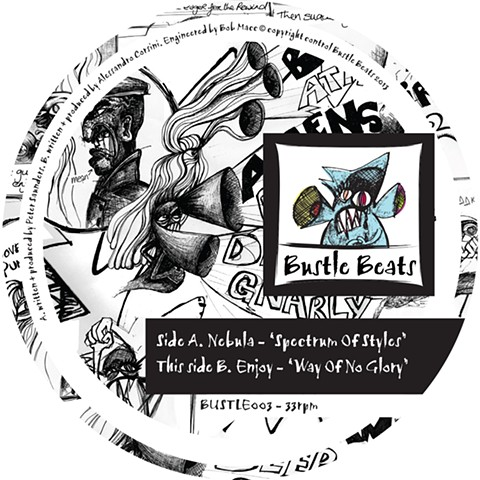 Bustle Beats 003 Label