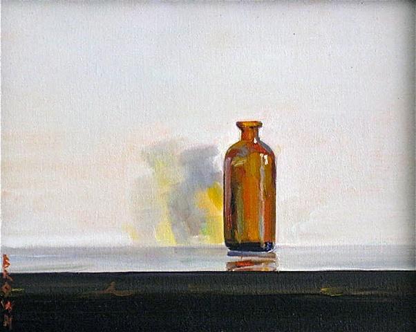 "Jo Brown,""Solo,"" oil on archival canvas board, 8"" x 10"" (2010)"