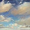 "Jo Brown, ""Cloud Lanes,"" (2011) oil on archival canvas board"