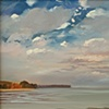 "Jo Brown, ""Mackerel Sky,"" (2011) oil on archival canvas board."