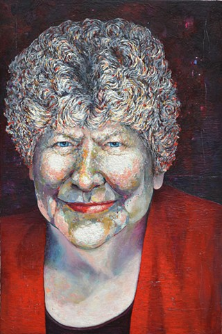 Portrait of Dame Wendy Pye, DNZM. MBE oil on canvas 183cm x 122cm