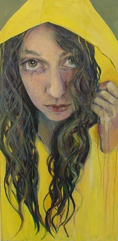 Brooke Wilkie Perth band Bears and Dolls, - portrait Painting, contemporary, psychological portrait