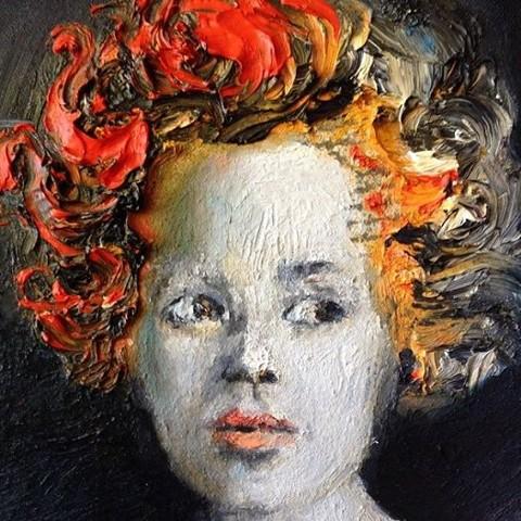 Orange oil on canvas 2014