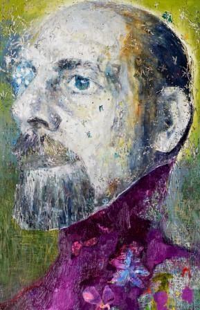 Gentleman In The Garden 2014 oil on canvas 160cm x 120cm