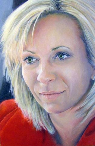 Painting of Allison Hembrough TV News Presenter & Reporter  Perth, Media