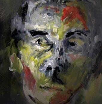 Contemporary portrait painting. musician- Monochrome