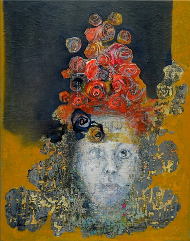 Petal Muse Portrait of Brooke Wilkie  oil on canvas 88cm x 69cm