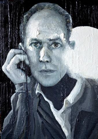 Black & White Photography oil on canvas 2014  38cm x 26cm