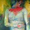 Heidi Mulder Cowboy  Oil on canvas 90cmx150cm