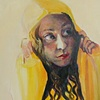 Heidi Mulder Brooke Wilkie, Protection.(Yellow Series)  Oil on Canvas 45cmx65cm