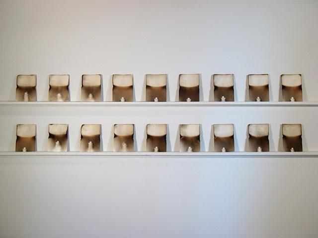 Burn series (installation view)