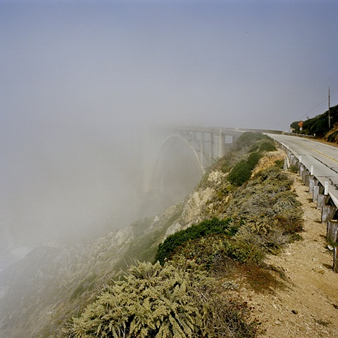 Bixby Bridge fog archival pigment print photograph by Chris Danes