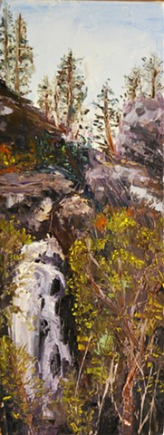 Bridal Vail Falls, Spearfish Canyon, south dakota, black hills, spearfish, art, painting, cool, good,