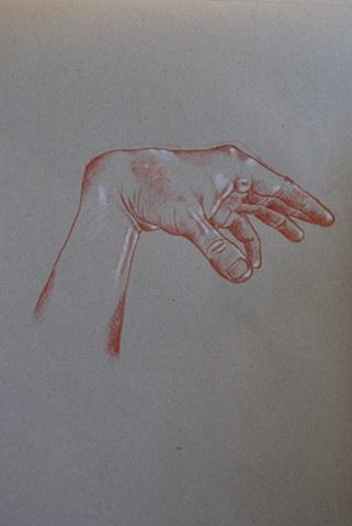 Study of hand, and horizon