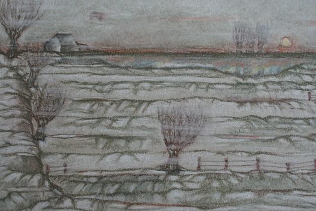 Meadow. Winter.