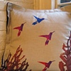 Hummingbird Flight Euro Pillow