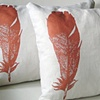 Copper Feather Pillow