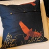 Hawk and Trees Pillow