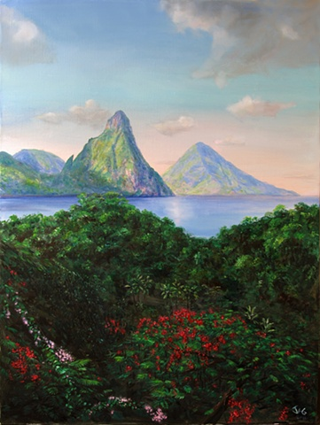 Pitons, Morning 2