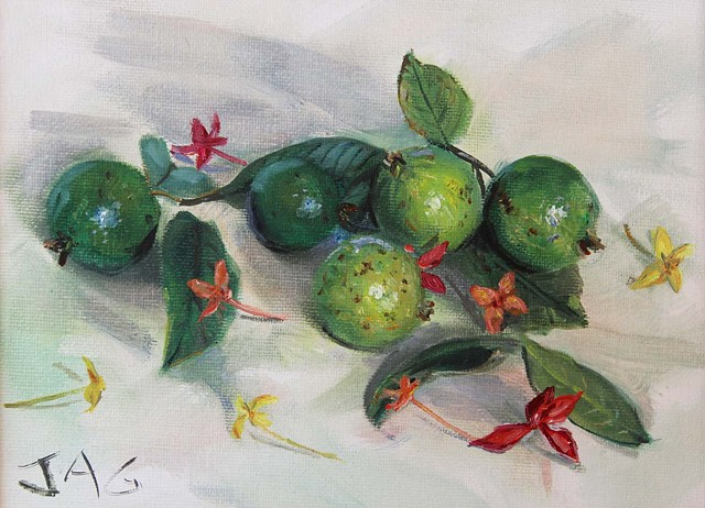 Guavas and Ixora 2