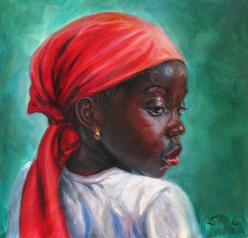 Girl in Orange Turban