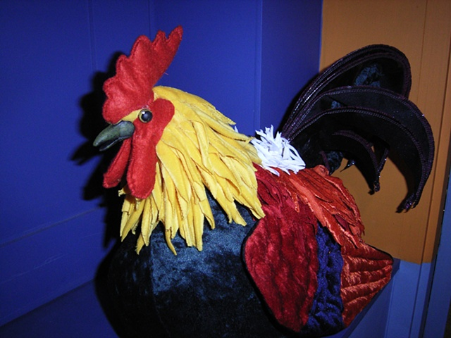 Fabric Chicken Puppet for Polish Society