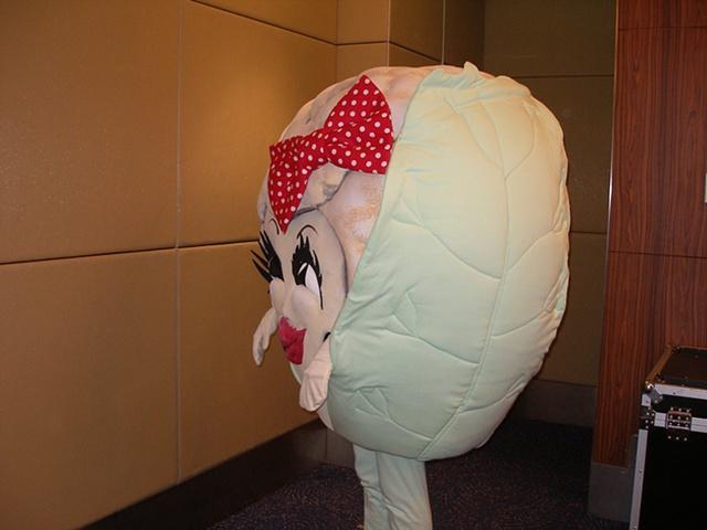 Cauliflower Mascot in profile