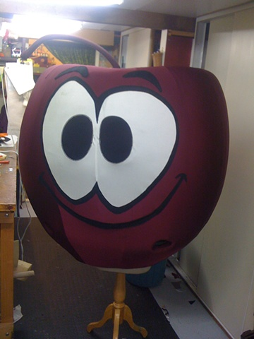 Cherry Mascot for the Cherry Shed in Latrobe