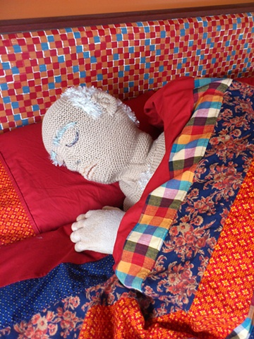 Marlon puppet for 'Knit One'