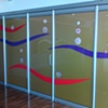 Glass Partition in Pier One Restaurant. Wrest Point Hotel and Casino