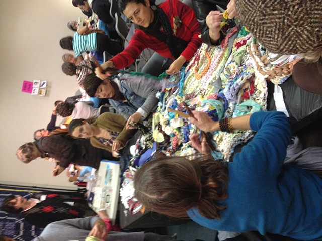 Crochet Jam, Radical Craft Night, Santa Cruz Museum of Art & History, Santa Cruz, California
