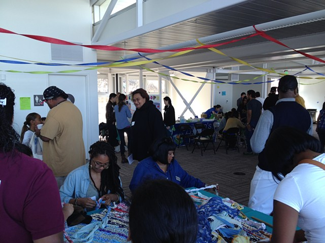 Crochet Jam, SF ArtSpan, Family Art Day