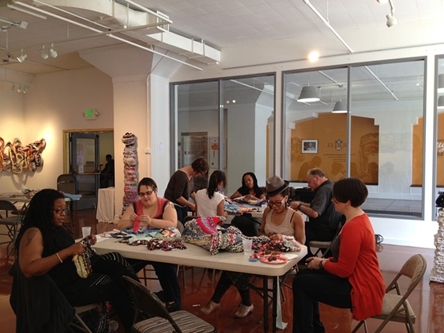 Crochet Jam at the AAACC San Francisco