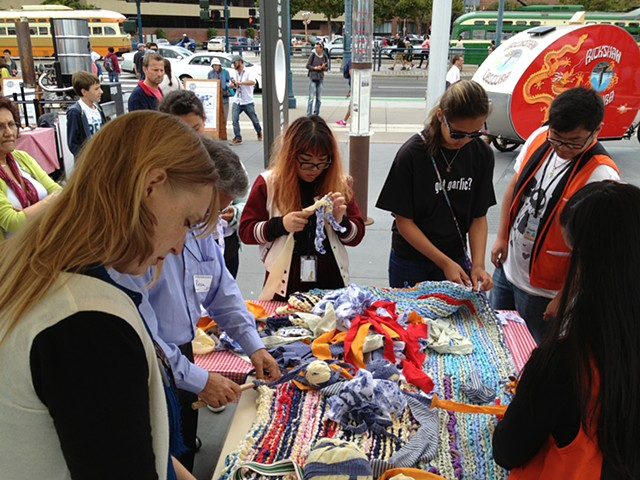 Crochet Jam at the Exploratorium San Francisco