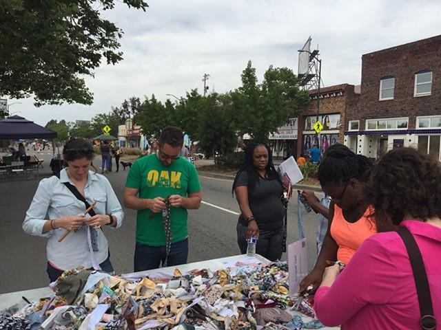 "Crochet Jam, ""Love Our Neighborhood Day Celebration,"" Berkeley, California"