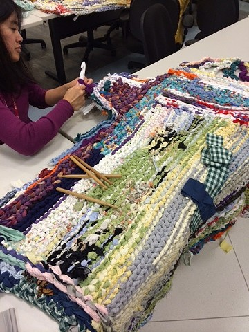Crochet Jam at San Francisco International Airport (SFO), Lunch & Learn Program, Health, Safety & Wellness Department—to relieve stress and foster creativity in the workplace.